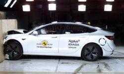 Tesla Model 3 получил рекордно высокую оценку Euro NCAP