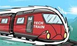 Сапсан среди ивентов: TechTrain прибывает на IT-платформу