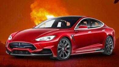 Фото #видео | В Москве произошел взрыв автомобиля Tesla