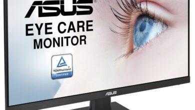 Фото ASUS VA24EHE Eye Care: безрамочный монитор с поддержкой Adaptive-Sync