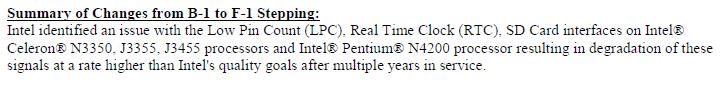 Intel пришлось объяснять, что с долговечностью процессоров Apollo Lake степпинга B1 всё в порядке
