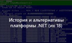 История и альтернативы платформы .NET