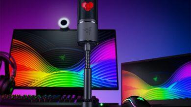 Фото Razer Seiren Emote: микрофон для стримеров с возможностью отображения эмоций