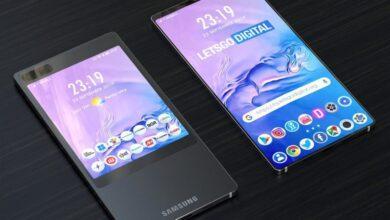 Фото Samsung размышляет над смартфоном с большим экраном на обратной стороне