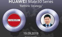 Смартфоны серии Huawei Mate 30 не будут продаваться в Центральной Европе из-за отсутствия приложений Google