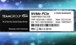Team Group MP33: накопители M.2 PCIe SSD вместимостью до 1 Тбайт