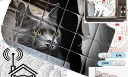 Домик с элементами хай-тека, для бездомного кота