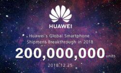 Huawei уже отгрузила более 200 млн телефонов в 2019 году