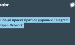 [Из песочницы] Новый проект братьев Дуровых: Telegram Open Network