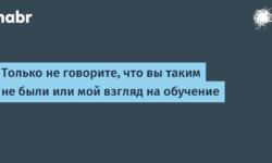 [Из песочницы] Только не говорите, что вы таким не были или мой взгляд на обучение