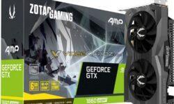 Видеокарты Zotac GeForce GTX 1660 Super оснащаются памятью GDDR6
