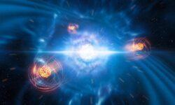 Впервые зафиксировано образования тяжёлого элемента при столкновении нейтронных звёзд