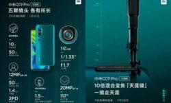 Xiaomi раскрыла подробности о системе из 5 камер в Xiaomi Mi CC9 Pro