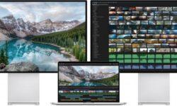MacBook Pro 16″ одновременно может выводить изображение на 2 дисплея 6K, четыре 4K или один 5K и три 4K