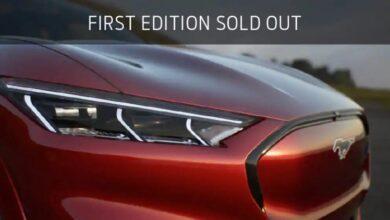 Фото Ограниченная партия электромобилей Ford Mustang Mach E First Edition распродана за год до выхода