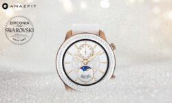 «Умные» часы Amazfit GTR теперь доступны в версиях Glitter с кристаллами Swarovski и Titanium