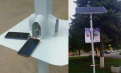 В России создали автономные уличные фонари, способные заряжать гаджеты и раздавать Wi-Fi