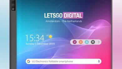 Фото LG проектирует смартфон в стиле гибкого Huawei Mate X