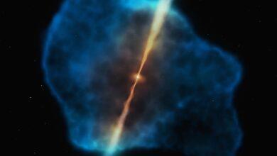 Фото Обнаружен источник «питания» для чёрных дыр в эпоху «космического рассвета»
