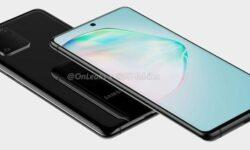 Смартфон Samsung Galaxy A91 с «дырявым» экраном позирует на рендерах
