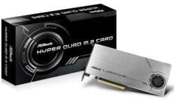 ASRock Hyper Quad M.2: карта расширения с поддержкой четырёх SSD-накопителей