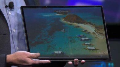 Фото CES 2020: Intel Horseshoe Bend — планшет с большим гибким дисплеем