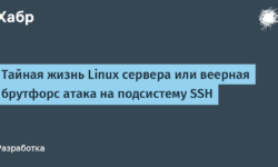 [Из песочницы] Тайная жизнь Linux сервера или веерная брутфорс атака на подсистему SSH