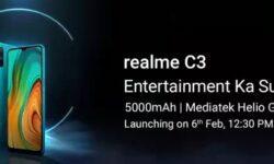 Realme C3: смартфон с 6,5″ экраном HD+, чипом Helio G70 и мощным аккумулятором