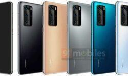Смартфоны Huawei P40 и P40 Pro показались на рендерах в разных цветах