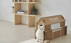 Упаковка от телевизоров Samsung превратится в домик для кошки или журнальный столик