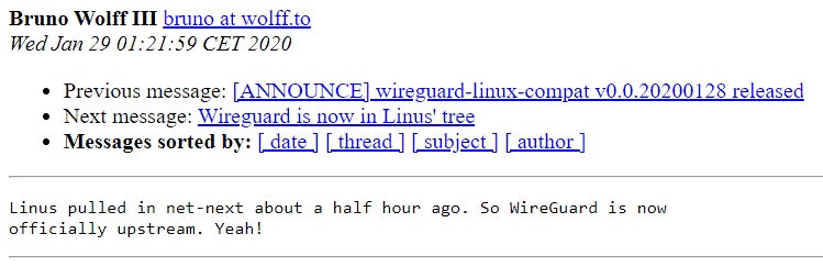 Фото В ядро Linux 5.6 включили VPN WireGuard
