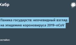 [Из песочницы] Паника государств: неочевидный взгляд на эпидемию короновируса 2019-nCoV