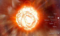 Красный сверхгигант Бетельгейзе резко потускнел и изменил видимую форму