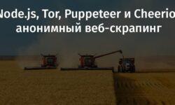 [Перевод] Node.js, Tor, Puppeteer и Cheerio: анонимный веб-скрапинг