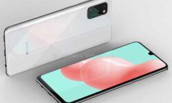 Смартфон Samsung Galaxy A41 с тройной камерой позирует на рендерах