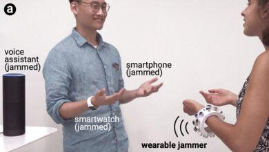 Фото Ультразвуковой браслет глушит окружающие микрофоны, включая имеющиеся в смарт-устройствах