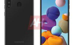 Экран Infinity-O и квадрокамера: смартфон Samsung Galaxy A21 предстал на рендере