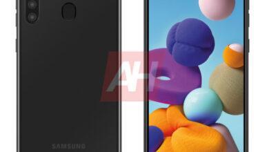 Фото Экран Infinity-O и квадрокамера: смартфон Samsung Galaxy A21 предстал на рендере
