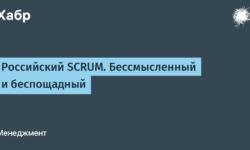 [Из песочницы] Российский SCRUM. Бессмысленный и беспощадный