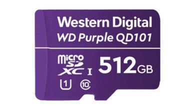 Фото Карты памяти WD Purple QD101 стандарта microSDXC имеют ёмкость до 512 Гбайт