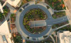 Коронавирус: съёмка с дрона демонстрирует опустевший кампус Microsoft