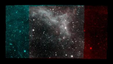 Фото Опубликовано фото туманности «Калифорния» — прощальный подарок телескопа Spitzer