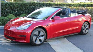 Фото Инженеры Newport Convertible Engineering сделали кабриолет из Tesla Model 3