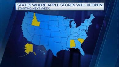 Фото На следующей неделе Apple возобновит работу нескольких магазинов в США