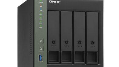 Фото NAS-хранилище QNAP TS-431KX допускает установку четырёх накопителей