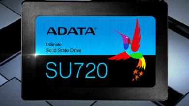 Фото SSD-накопители ADATA Ultimate SU720 выполнены в формате 2,5 дюйма