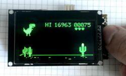 T-Rex-duino – клон игры про динозавра из браузера Chrome для Arduino