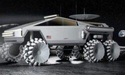 Дизайнер сделал из пикапа Tesla Cybertruck луноход