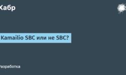 [Из песочницы] Kamailio SBC или не SBC?