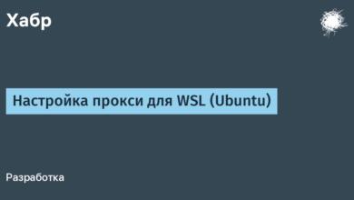Фото Настройка прокси для WSL (Ubuntu)